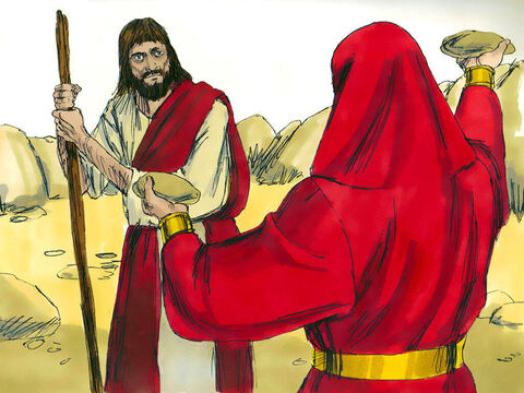 The tempter came to Him and said, 'If you are the Son of God, tell these stones to become bread.' – Slide 2