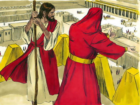 Then the devil took Him to Jerusalem and set Him on the highest point of the temple.  'If you are the Son of God,' he said, 'throw yourself down. For it is written: – Slide 4