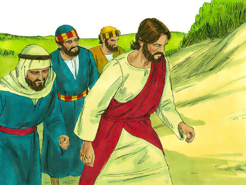 Jesus and His disciples were on the way to Jerusalem and had reached the border between Galilee and Samaria. – Slide 1