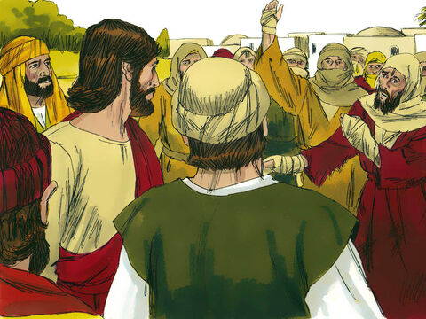 As Jesus entered a village, ten men with leprosy stood at a distance, crying out, 'Jesus, Master, have mercy on us!' – Slide 2
