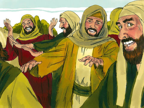 Jesus looked at them and said,'Go and show yourselves to the priests.'(The local priest was the person who examined people to see whether they had leprosy). As they went, they were cleansed of their leprosy. – Slide 3