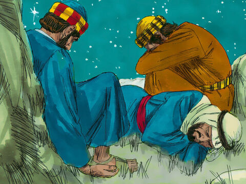 But the disciples were very sleepy. – Slide 3