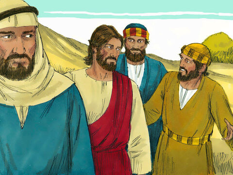 They asked Him, 'Why do the teachers of the law say that Elijah must come before the Saviour, the Messiah?' – Slide 9