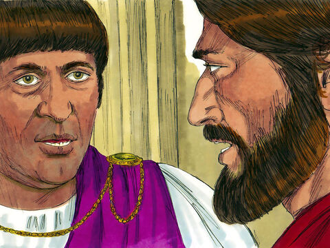 'Are you the King of the Jews?' Pilate demanded. 'You have said so,' Jesus replied. – Slide 2