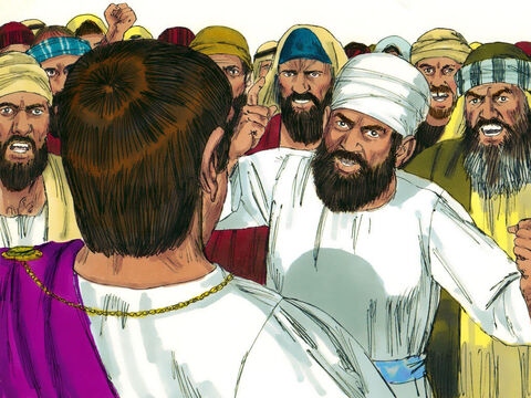 The Chief Priests and elders made accusations that Jesus claimed to be King of the Jews and was leading a rebellion. Jesus remained quiet and this amazed Pilate. – Slide 3