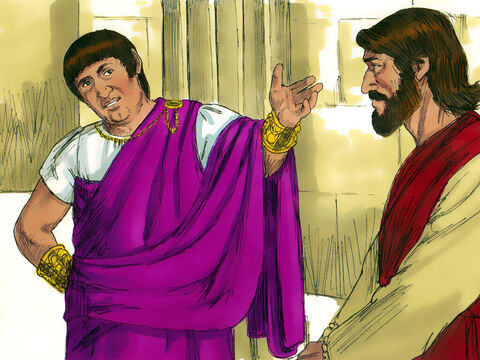 'Don't you hear the accusations they are bringing against you?' Pilate asked Jesus. Then he announced to the Chief Priests and crowd, 'I find no basis for a charge against this man.' – Slide 4