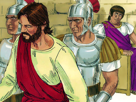 On hearing that Jesus was from Galilee, the region ruled by Herod Antipas, Pilate, knowing that Herod was in Jerusalem for the feast, sent Jesus to be questioned by him. – Slide 6
