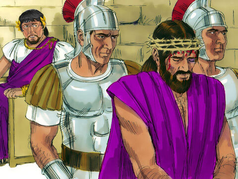 Herod then sent Jesus back to Pilate. That day Pilate and Herod became friends; previously they had been enemies. – Slide 9