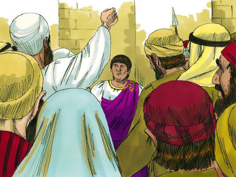 But the chief priests and elders incited the crowd to shout, 'Crucify Him! Crucify Him!' – Slide 12