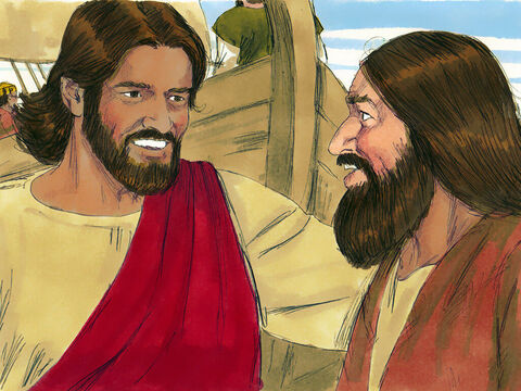 As Jesus got into the boat, the man who had been delivered from the power of so much evil begged to go with Him. 'No,' replied Jesus. 'Go home to your own people and tell them how much the Lord has done for you.' – Slide 11