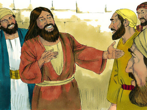 The man went round the whole region telling others what Jesus had done for him. And everyone was amazed. – Slide 12