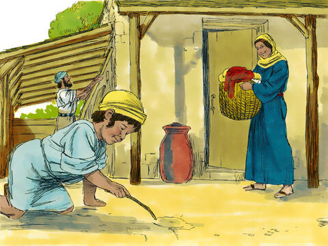 Jesus grew up in the town of Nazareth with His mother Mary and Joseph. – Slide 1
