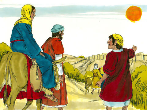 When Jesus was twelve years old, Mary and Joseph took Him to Jerusalem for the Festival of the Passover. It was a holiday celebration and thousands of people from all over the country were in the city. – Slide 2