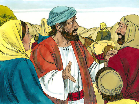 That evening Mary and Joseph set up camp but when they looked for Jesus they could not find Him. – Slide 4