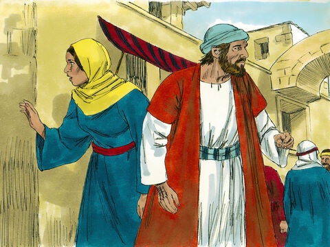 After a frantic search they realised Jesus was not with their relatives or friends. Immediately they set off back to Jerusalem to find Him and searched the city for three days. – Slide 5