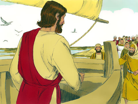 As they got off the boat people recognised Jesus and started bringing those who were sick to him. All those who touched the edge of his clothes were healed. – Slide 12