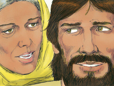 'Why are you involving me?' asked Jesus. His mother went to the servants and told them. 'Do whatever He tells you.' – Slide 3