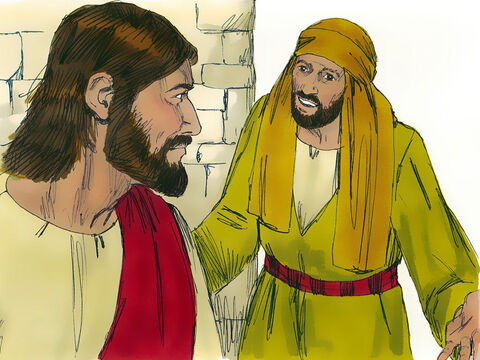 Jesus then told the servants, 'Go and draw out some of the water and take it to the man in charge of the wedding banquet.' – Slide 6