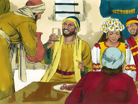 They took a small jar of the water to the master of the banquet. He had no idea what had been going on. – Slide 7
