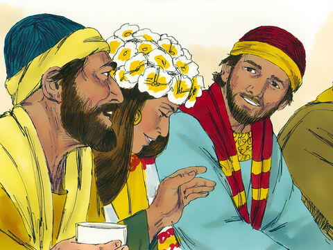 He tasted it and turned to the bridegroom. – Slide 8