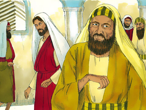 On another Sabbath day of rest, Jesus went into a synagogue to teach. A man was there whose right hand was withered. The Pharisees and the teachers of the law were looking closely to see if Jesus would heal on the Sabbath. – Slide 5