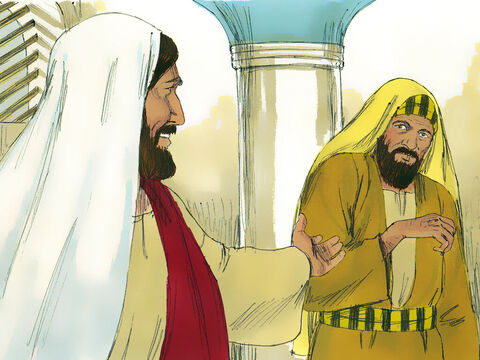 He looked around at them all, and then said to the man, 'Stretch out your hand.' – Slide 9