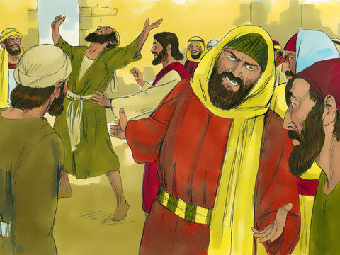 But the Pharisees and the teachers of the law were furious and began to plot what they might do to Jesus – Slide 11
