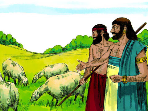 Job chapter 1: Job was a wealthy man living in the land of Uz. He owned 7,000 sheep, 3,000 camels, 500 yoke of oxen and 500 donkeys. Many servants worked for him and he was considered the greatest man among all those living in the East. – Slide 1