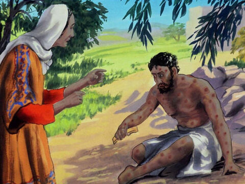 Job's wife said to him, 'Curse God and die.' – Slide 25