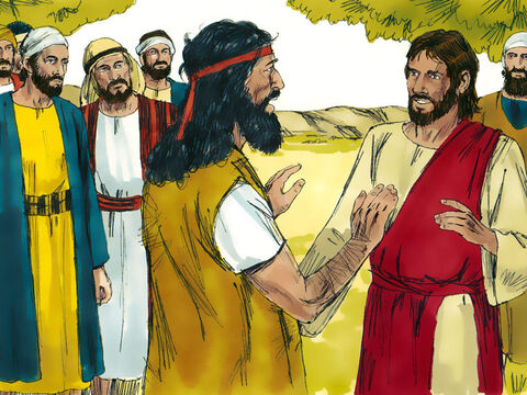 Jesus went from Galilee to the River Jordan to be baptised by John. When John saw Jesus he didn't want to baptise Him. 'This isn't proper,' he said. 'I am the one who needs to be baptised by you.' – Slide 7