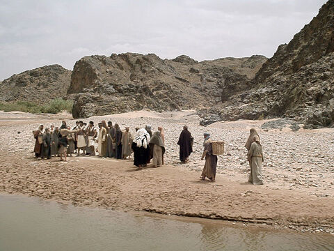 People from all over Judea and around the River Jordan go out into the wilderness to hear him preach. – Slide 4