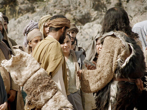 He warns them that God can raise up children from a stone, so claiming that they are descendants of Abraham does not excuse them from putting their lives right with God. – Slide 11