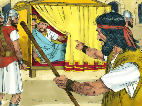 Now Herod Antipas was the ruler over the region in which John the Baptist was preaching. John spoke out, rebuking Herod Antipas and Herodias saying it was not lawful for them to act as they had and get married. – Slide 3