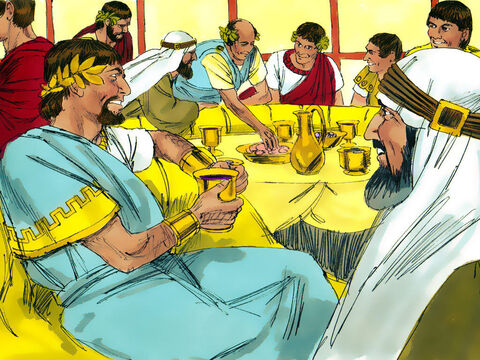 On his birthday, Herod Antipas held a banquet for his high officials, military commanders and the leading men of Galilee. – Slide 5