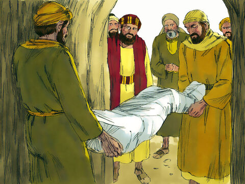 When John's disciples found out he had been executed they came to Herod's fortress near the Dead Sea to collect John's body and bury it. – Slide 12