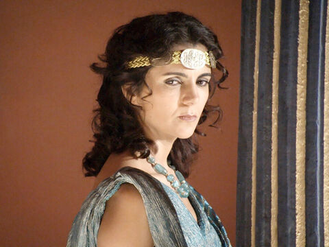 Herodias is pleased when Herod Antipas divorces his wife Phasaelis to marry her – even though they are breaking the Jewish laws on marriage. Herod Antipas is so powerful no-one dares to say that what he and Herodias are doing is wrong. – Slide 2