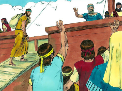 So instead of going to Nineveh, Jonah headed for the port of Joppa and got on a boat. – Slide 4