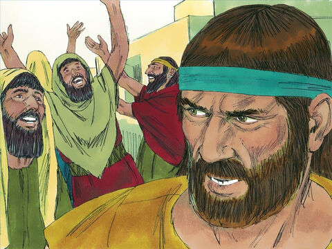 God showed mercy to the Assyrians when they repented. This made Jonah very angry as he wanted God to destroy these enemies of the Jewish people. 'I knew you would forgive them,' he complained to God. 'That is why I did not want to come here and preach to them.' – Slide 16
