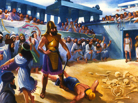 But for many years those living in Nineveh had become more and more wicked. – Slide 2