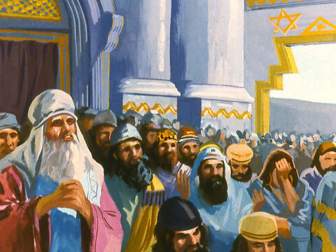 The people of Israel worshipped God and their faith was at the centre of all they thought and believed. – Slide 5