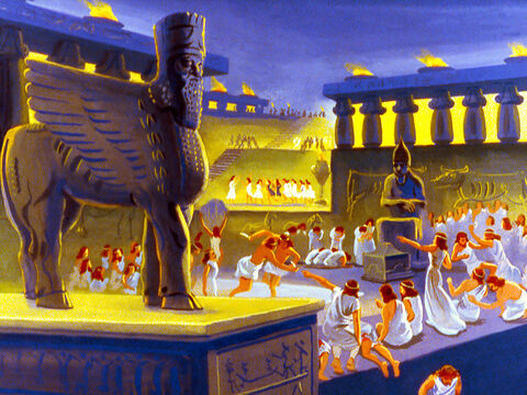 The people of Nineveh did not worship God but images made out of stone. – Slide 6