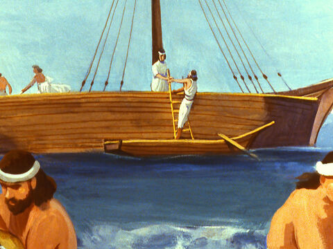 He boarded a boat heading for Tarshish in Spain as far away as he could get from Nineveh. – Slide 11