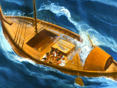 In desperation the crew of the ship drew lots to find out who was responsible for the trouble they were in. – Slide 20