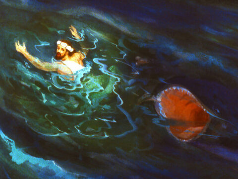 The great fish completely swallowed Jonah – Slide 25