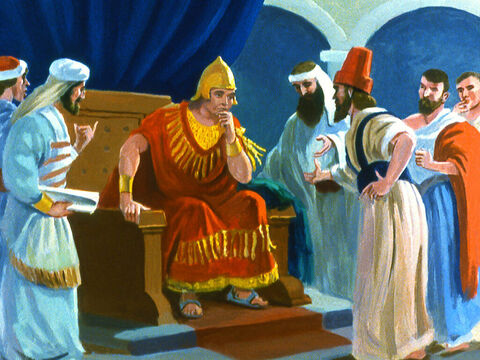 When the King heard about Jonah's message he became aware of the ways he had disobeyed God. – Slide 31