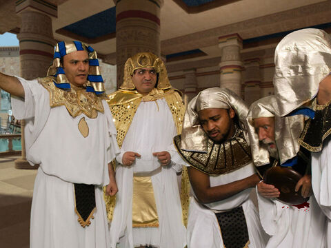 However he so upset Pharaoh one day that the guards were called. – Slide 7