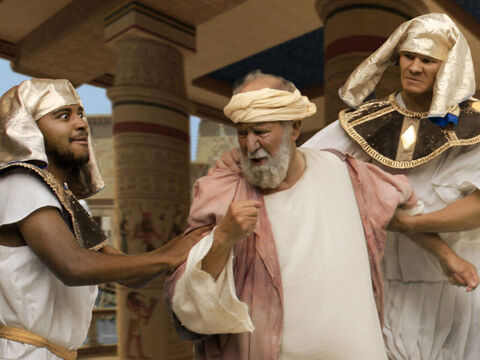 And he was marched off to the prison where Joseph was being kept. – Slide 8