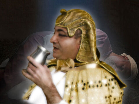 'Then I put the cup in Pharaoh's hand.' – Slide 16