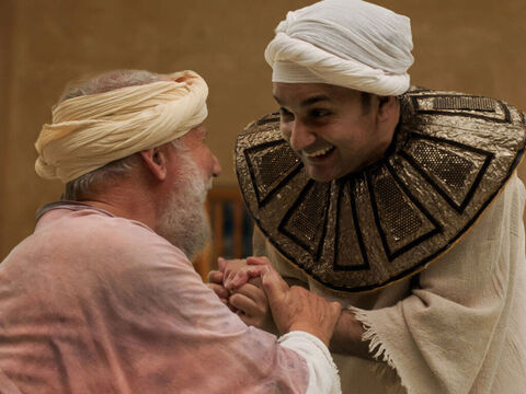 Joseph then asked the cup bearer to do him a favour. 'I was forcibly carried off from the land of the Hebrews, and now find myself in prison having done nothing wrong,' he explained. 'When you get your job back please mention me to Pharaoh.' – Slide 18