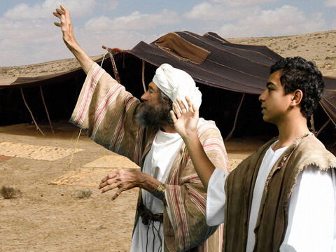 But Jacob wouldn't let Joseph's younger brother, Benjamin, go with them, fearing some harm might come to him. – Slide 9